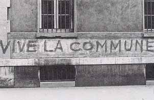 Vive la commune - graffiti