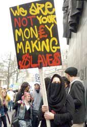 We are not your money making slaves.