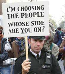 I'm choosing the people. Whose side are you on ?
