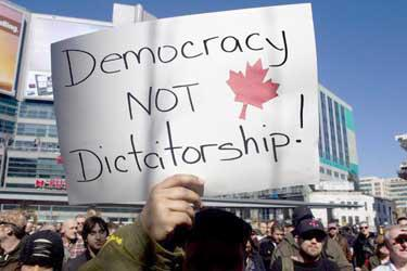 Democracy not dictator ship